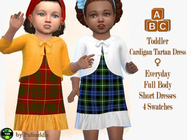 Tartan Dress with Cardigan by Pelineldis from TSR