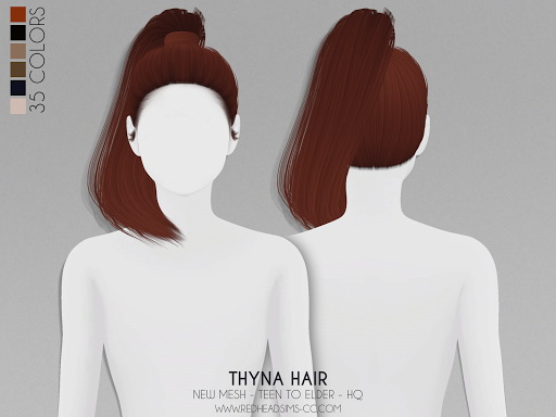 Thyna Hair from Red Head Sims