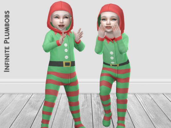 Toddler Christmas Elf Onesie by InfinitePlumbobs from TSR