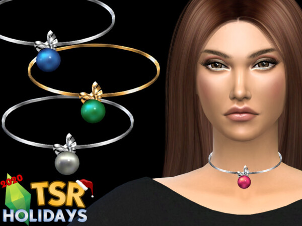 Winter Wonderland Christmas ball necklace by NataliS from TSR