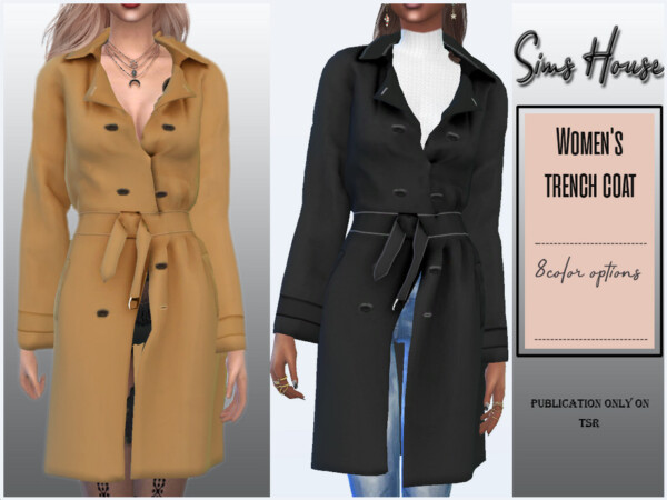 Womens trench coat by Sims House from TSR