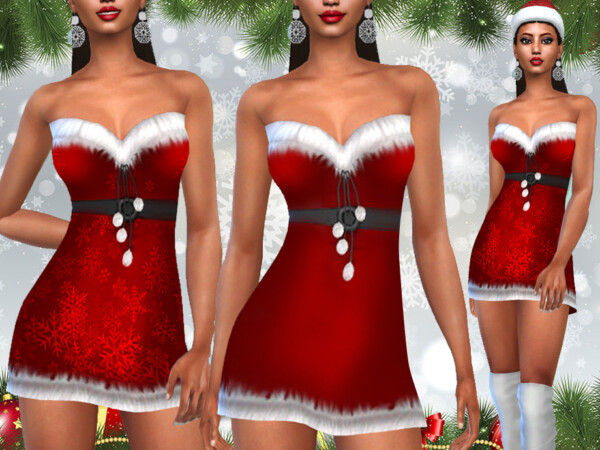 Xmas Costume Dresses by Saliwa from TSR