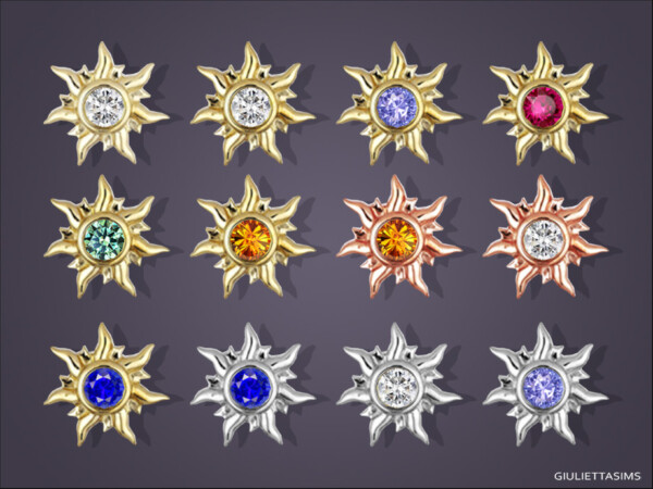 Sunburst Stud Earrings  by feyona from TSR