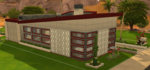 The Palm Springs Mid Century Modern Home by DominoPunkyHeart from Mod The Sims