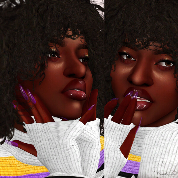 Bubble pop and Sugar Milk Nails Reloaded from Praline Sims