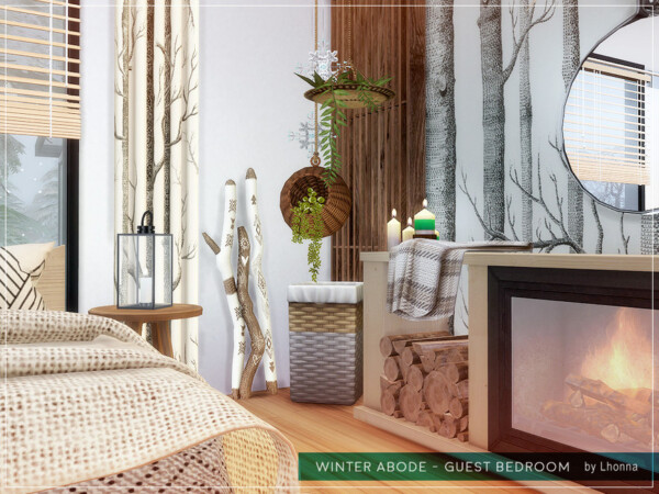 Winter Abode Guest Bedroom by Lhonna from TSR