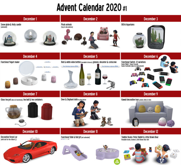 2020 Advent Calendar Gifts 1 from Around The Sims 4