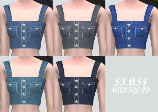 Y Star Bustier from SIMS4 Marigold