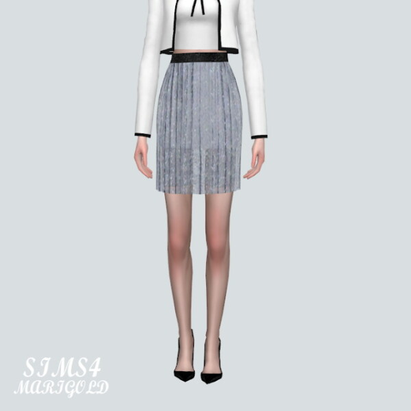 ST 2 Accordion Mini Skirt from SIMS4 Marigold