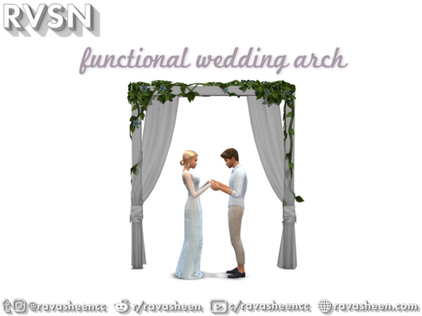 Holy Marchrimony Wedding Arches by RAVASHEEN from TSR