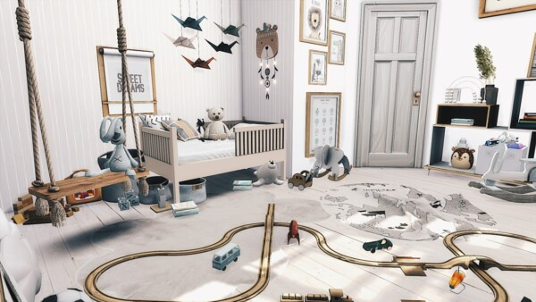 Gender Neutral Toddler Room from Models Sims 4