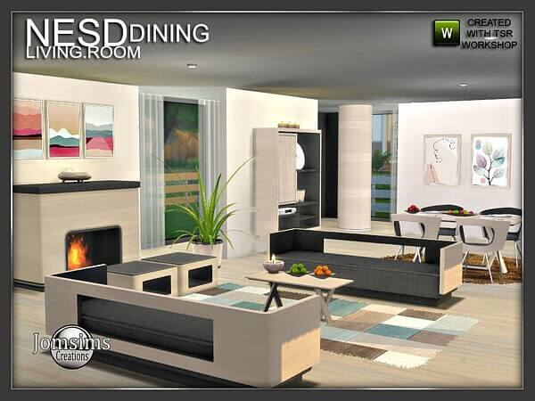 Nesd dining room part 2 by jomsims from TSR