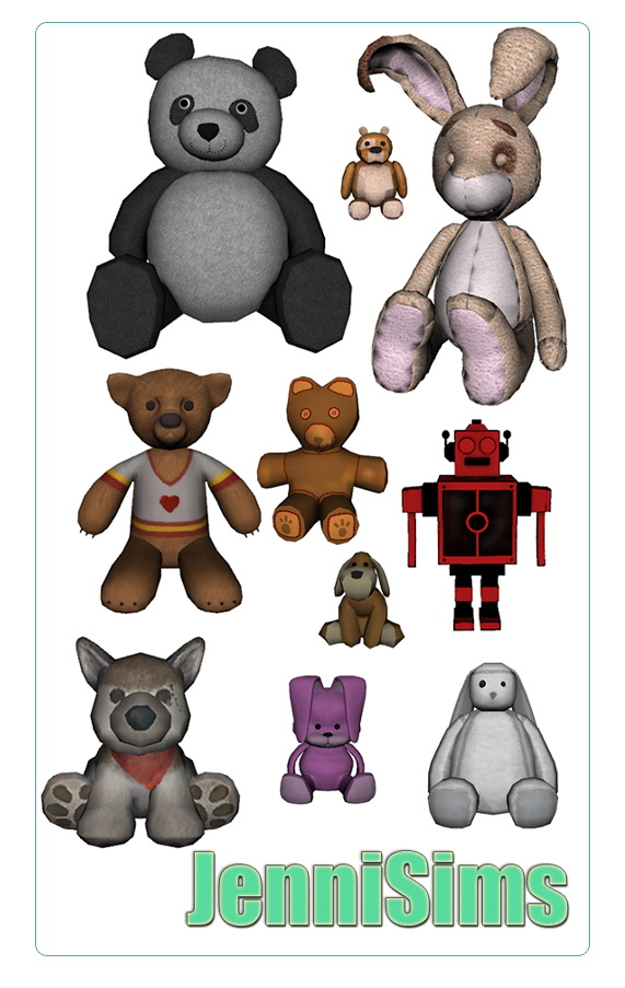 Stuffed animals from Jenni Sims
