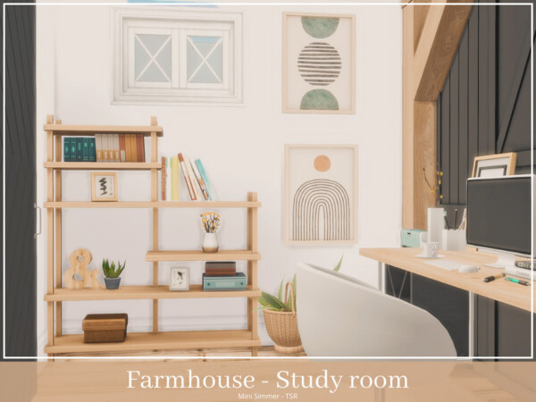 Farmhouse Study room by Mini Simmer from TSR