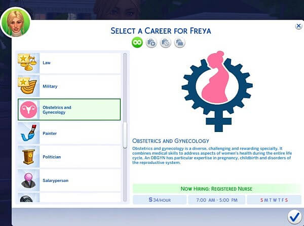 Obstetrics and Gynecology Career by QuietPriestess from Mod The Sims