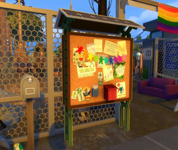 No Community Board Glow by endermbind from Mod The Sims