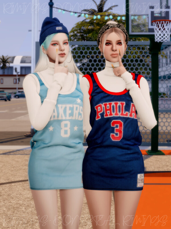 Basketball Uniform Dress from Rimings
