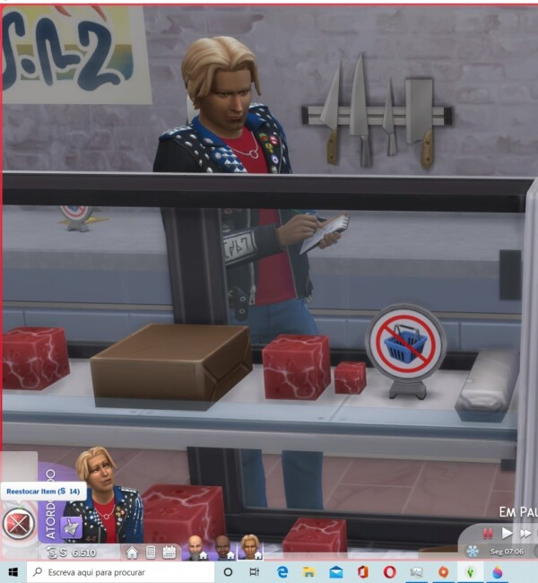 Vegetal meat cube can be sold on retail lots and storage on retail fridge by trendorina from Mod The Sims
