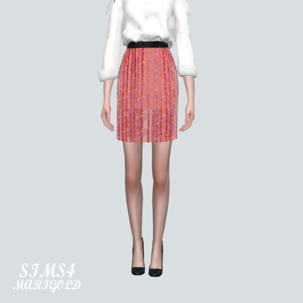 Accordion Mini Skirt
