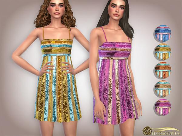 Allover Glittering Sequin Midi Dress