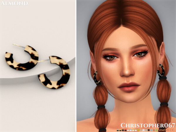 Almond Earrings by Christopher067 from TSR