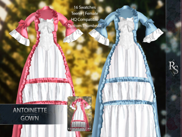 Antoinette Gown from Revolution Sims