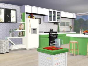 Apple White Kitchen Set
