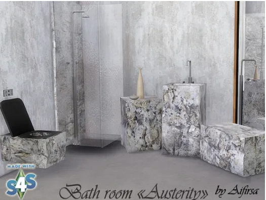 Austerity bathroom furniture set from Aifirsa Sims