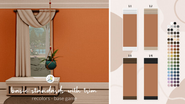 Basic Standards Walls with Trim from Luna Sims