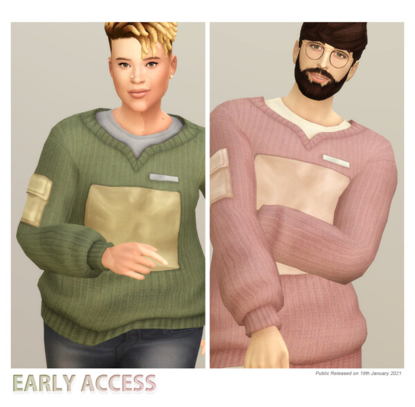 Basic Sweater V from Rusty Nail