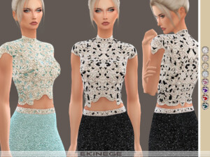 Beaded Cropped Top
