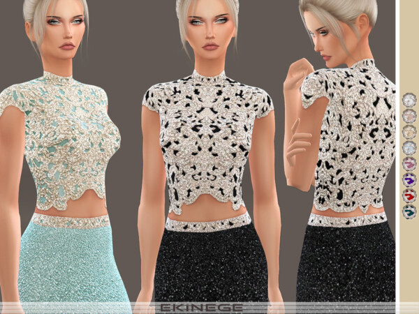 Beaded Cropped Top by ekinege from TSR