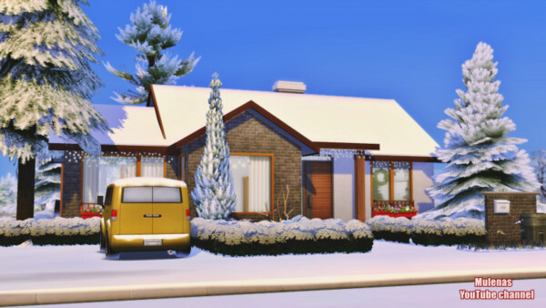 Christmas house 2 from Sims 3 by Mulena