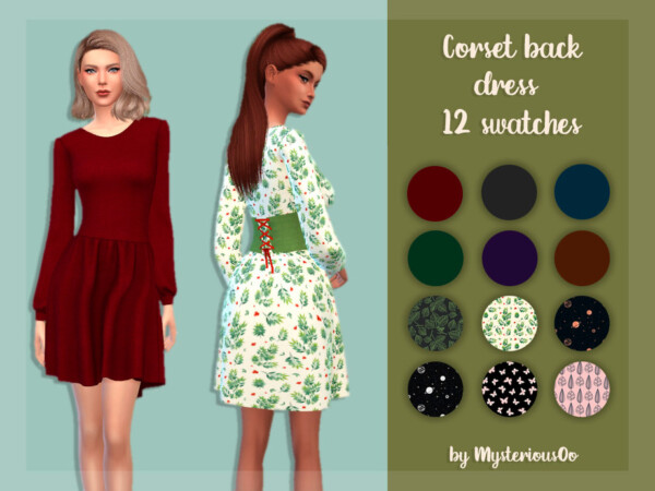 Corset back dress by MysteriousOo from TSR