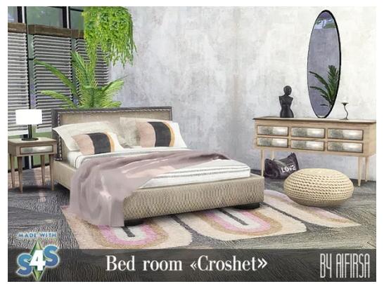 Croshet Bedroom from Aifirsa Sims