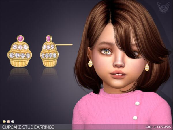 Cupcake Stud Earrings by feyona from TSR