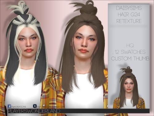 Daisy`s Hair G24 Retexture from Players Wonderland