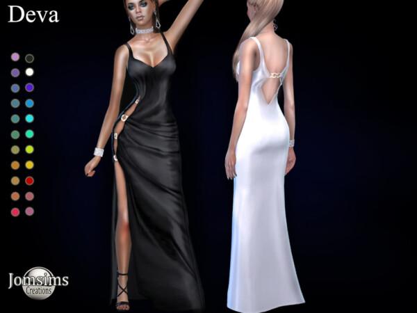 Deva split dress by jomsims from TSR
