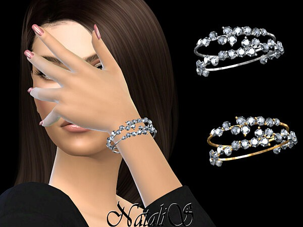 Diamond cluster bracelets by NataliS from TSR