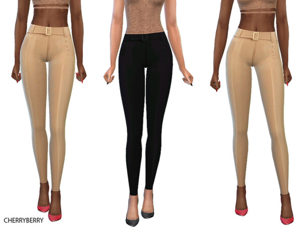 Dita Beige Pants by CherryBerrySim from TSR
