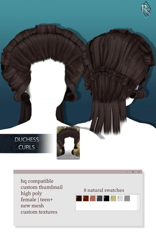 Duchess Curls from Revolution Sims