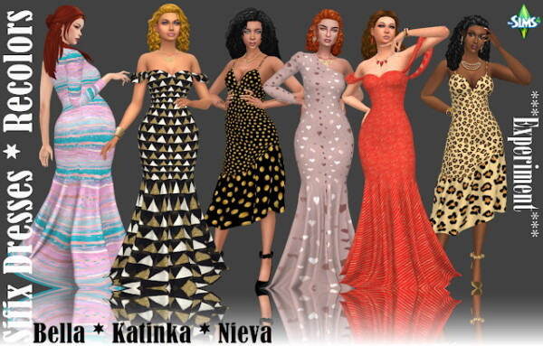 Experiment Sifix Dresses Recolors  Part 1 from Annett`s Sims 4 Welt