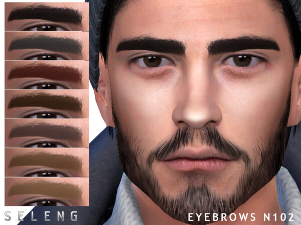 Eyebrows N102 by Seleng from TSR