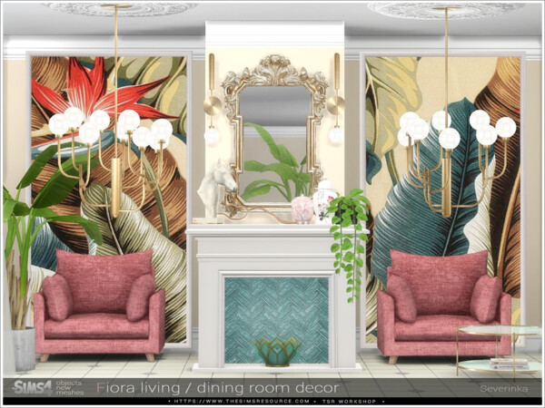 Fiora dining room decor by Severinka from TSR