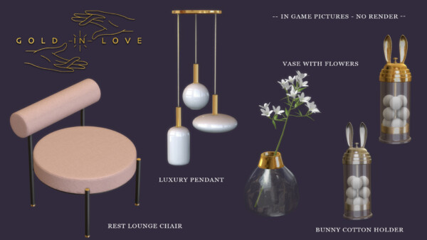 Gold In Love Collection from Leo 4 Sims