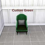 Guidrys Favourite Chair Recolour Red and Green swatches