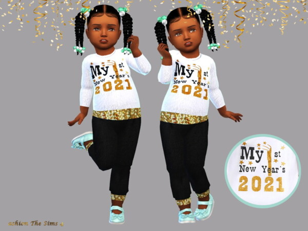 Happy New Year Baby Clothes by LYLLYAN from TSR