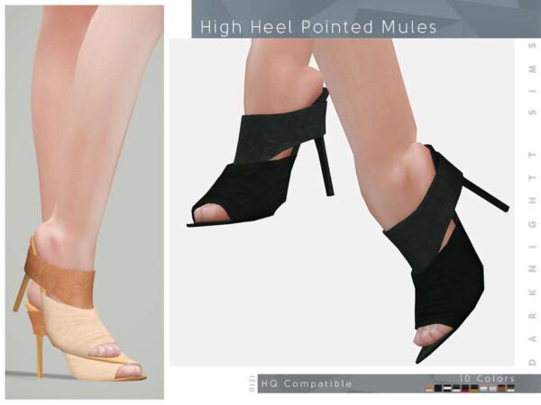 High Heel Pointed Mules by DarkNighTt from TSR
