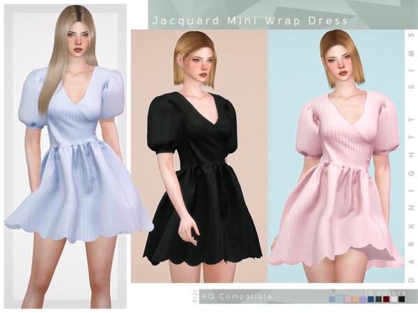 Jacquard Mini Wrap Dress by DarkNighTt from TSR