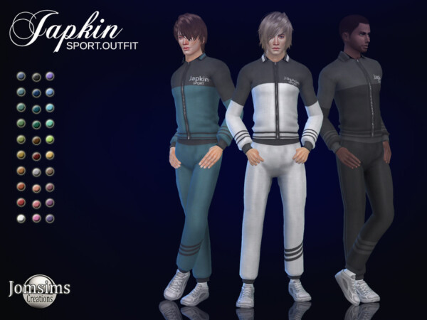 Japkin sport outfit by jomsims from TSR